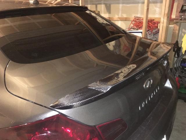 G37 Carbon Fiber Rear Trunk Lip Spoiler Wing For Infiniti 4door Sedan 2009 2017 Auto Car Styling