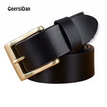 GEERSIDAN Brand Leather Belts 140cm-160cm For Men High Quality pin Buckle Large Long Strap cow Leather Men's Belt For Trousers 2018 new large size genuine leather men belts fashion long male designers high quality 140cm 150cm 160cm jeans pin buckle belt