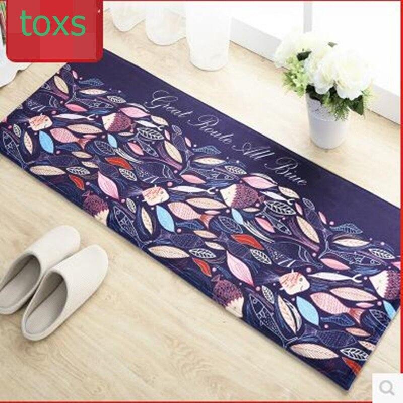 Velvet carpet doormat mats mat bathroom waste-absorbing slip-resistant pad 40cm*60cm for 2 peces