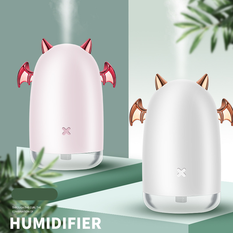 230ml Ultrasonic Air Humidifier Little Devil USB Aroma Essential Oil Diffuser For Home Car Mist Maker Fogger Color LED Lamp