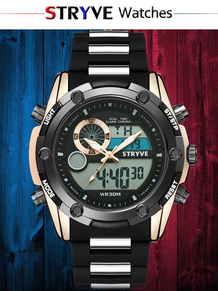 dstryágua stryve marca militar heavy dial masculino
