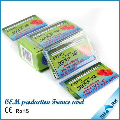 Good quality low cost green white cigarette harm reduction card,anti cancer