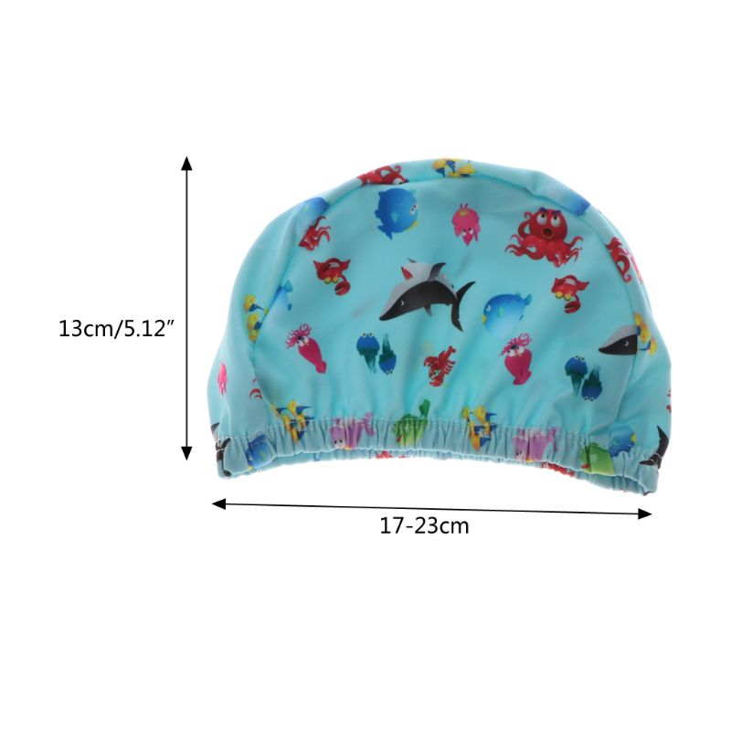 Baby Newborn Swimming Caps Infant Cartoon Printed Swimming Hats Bathing Waterproof Caps For Children Boys Girls Pool 0-6Y