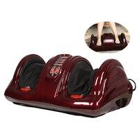 Electric Antistress Muscle Release Therapy Rollers Shiatsu Kneading Gua Sha Heat Reflexology Leg Foot Massager Machine Device