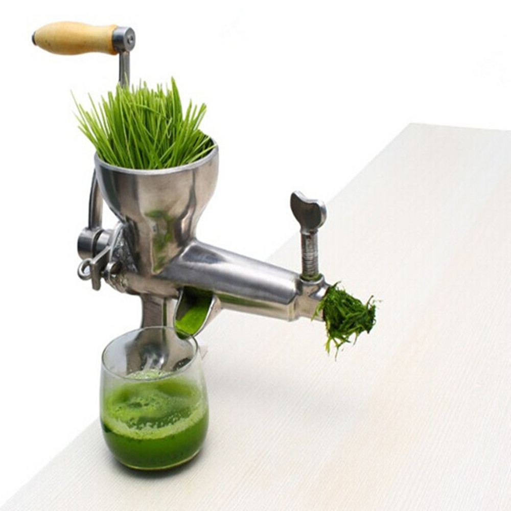 Stainless steel manual hand wheat grass wheatgrass slow juicer vegetable orange juice extractor machine ZF wheat grass juicer stainless steel manual home use vegetable orange juicing machine juice extractor