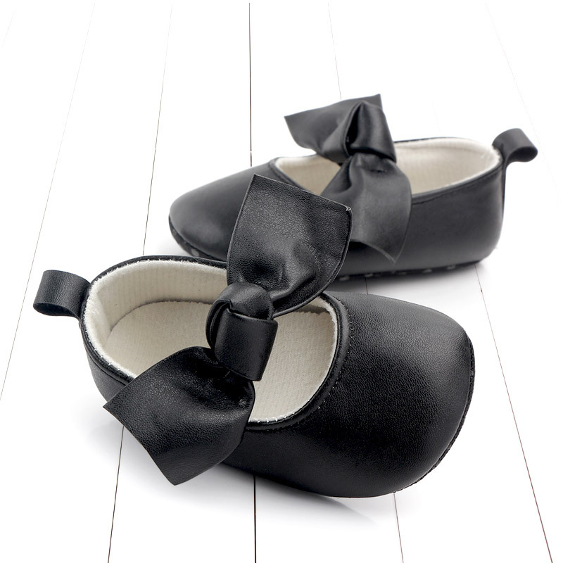 PU Leather Baby First Walkers Shoes Bow Soft Soled Anti-slip Footwear Crib Baby Girl Shoes Infant Toddler Best Gifts for Newborn (4)