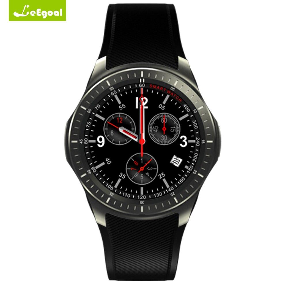 Leegoal DM368 Смарт часы 1.39 дюймов Android 3 г часы Bluetooth 4.0 WIFI шагомер сердечного ритма приложение бесплатно скачать Android часы GPS