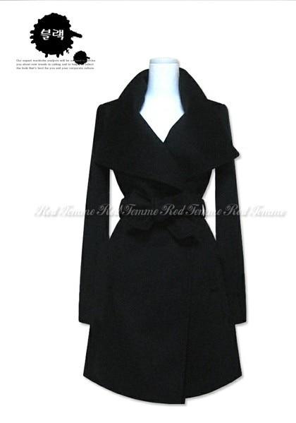 Black Femelle Nouvelles blue Européenne Laine D'hiver Vestes Turn Longues Femmes 2016 De Pardessus Couleur down Mode Col Manteau Solide Mince brown Outwear xgHqZwZ