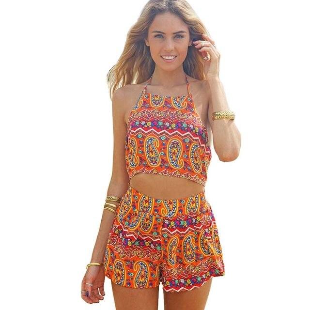 Online Shop plus size women jumpsuits summer Straps Sunflower ...