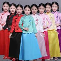 เลดี้จีนโบราณเสื้อผ้าเด็กราชวงศ์ถังเจ้าหญิงเครื่องแต่งกายH Anfuคอสเพลย์ฮาโลวีนปาร์ตี้เสื้อผ้ายอดนิยม+ชุด