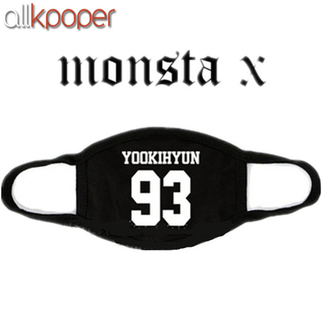 ALLKPOPER Kpop MONSTA X Mask Cotton Mouth HYUNGWO Face Muffle I.M SHOWNU WONHO MINHYUK 2
