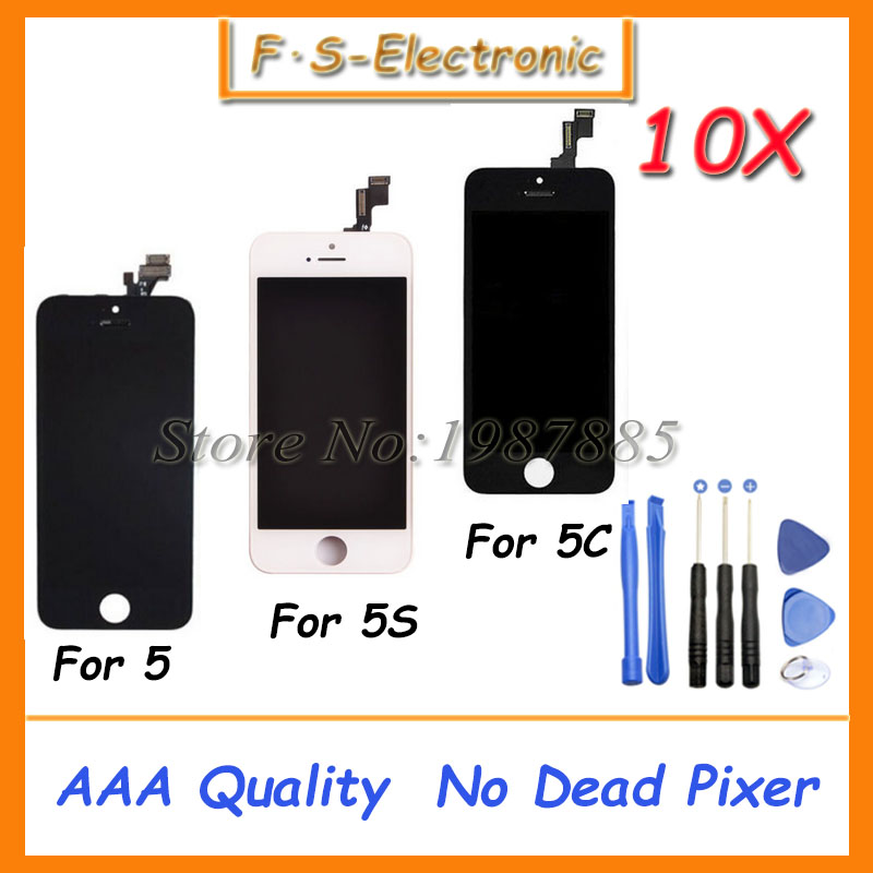 10pcs/lot Free Shipping DHL AAA Quality For iPhone 5 5s 5c LCD Display+Touch Screen Digitizer+Frame Assembly White Black 5pcs lot free shipping for iphone 5s lcd display touch screen digitizer frame assembly white black