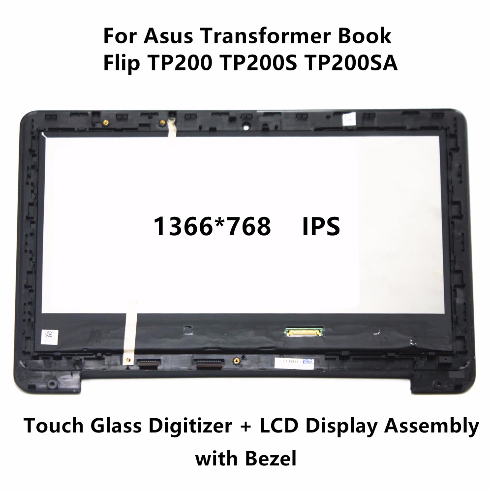 New 11.6 inch For Asus Transformer Book Flip TP200 TP200S TP200SA M116NWR4 Touch Digitizer IPS LCD Screen Display Assembly Bezel flip cover for asus transformer book