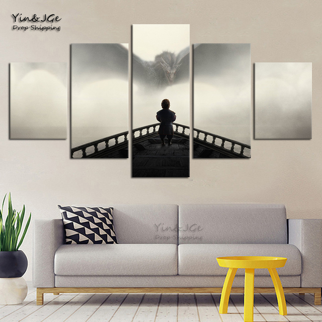 Home Decorative Modular Canvas Pictures HD Prints Posters 5 Pieces Game Of Thrones Painting For Living Room Wall Art Framework