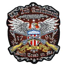 THE 2ND AMENDMENT AMERICAN EAGLE BACK Embroidered punk biker Patches Clothes Stickers Apparel Accessories Badge