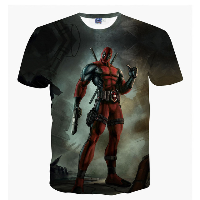 Pokemon/Deadpool 3d Printed O-Neck T Shirt