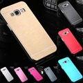 Телефон Случае Для Samsung Galaxy J3 J5 J7 2015 Версия Алюминий металлической Крышкой + Пластиковый Жесткий Чехлы Для Samsung J300 J500 J700