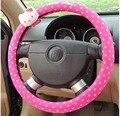 2 Estilo rosa Olá kitty tampa da roda de direcção do carro quatro estações geral tampa da roda de direcção do carro Universal