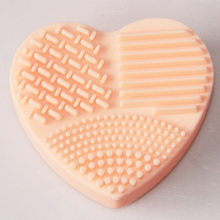 Heart Shape Make up Brushes Silicon Scrubber