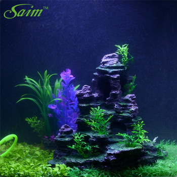Mountain Fish Tank Ornaments Aquarium Decoration Rockery With Cave Landscape 6