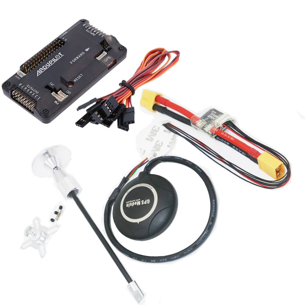 APM 2.8 Flight Controller Board side pin ArduPilot Mega+Ublox NEO-7M GPS+ Antenna Seat +Power Module Cable for RC Airplane Part new mini apm pro flight controller with neo m8n gps
