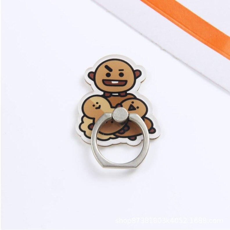 Мобильный телефон мультфильм палец кольцо держатель Стенд Кристалл Акриловое металлическое кольцо держатель 100 шт./лот