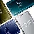 S7 S6 Край Край Case Для Galaxy S6 S7 Edge Ясное Зеркало поверхность Флип Мобильный Телефон Аксессуары Case Для Samsung S6 Edge S7 Крышка