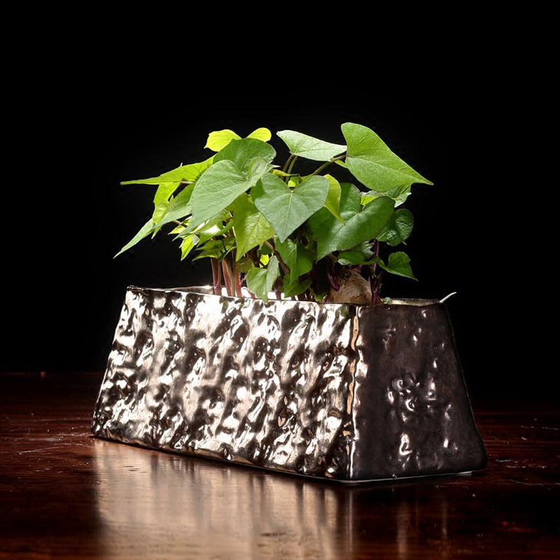 Zen Vintage Coarse Pottery Floral Ikebana Vase Tabletop Ceramic