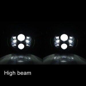 "Image 5 - جهاز عرض (بروجكتور) ليد العلوي ، نقطة دراجة نارية 7 بوصة مصابيح LED مستديرة المصابيح الأمامية DRL ، 7 ""80W DRL LED موتو المصباح ل داينا شارع الإنزلاق"