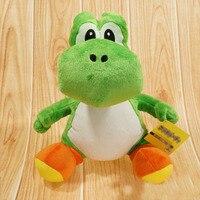 1pcs 30cm New Cute Super Mario Bros Green Yoshi Stuffed Plush Toys Soft Stuffed Toys Doll