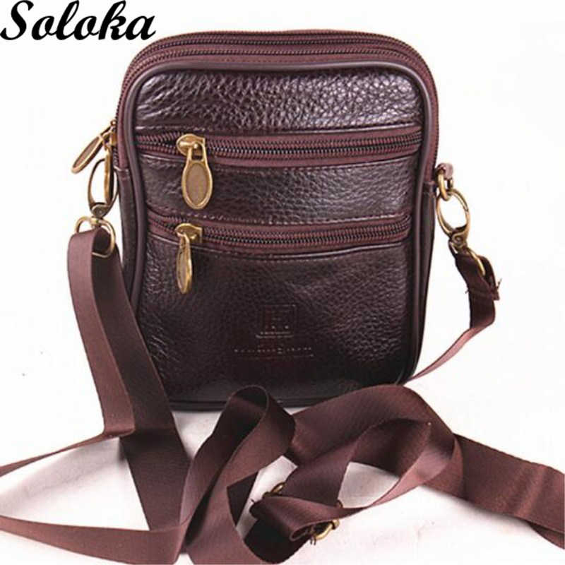 1 PC Genuine Leather Messenger Crossbody Tas Selempang Pria Bahu Sapi Cortex