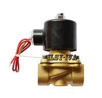 AC220V DN32 brass Solenoid valve,Normally Closed 2 Way Gas Water Pneumatic Electric Solenoid Valve