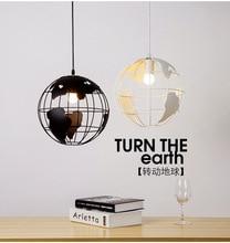 American Retro Globe LED Pendant Lights Restaurant Cafe Bar Iron Pendant Lamp Living Room Office Hanging Hanglamp Decor Fixtures