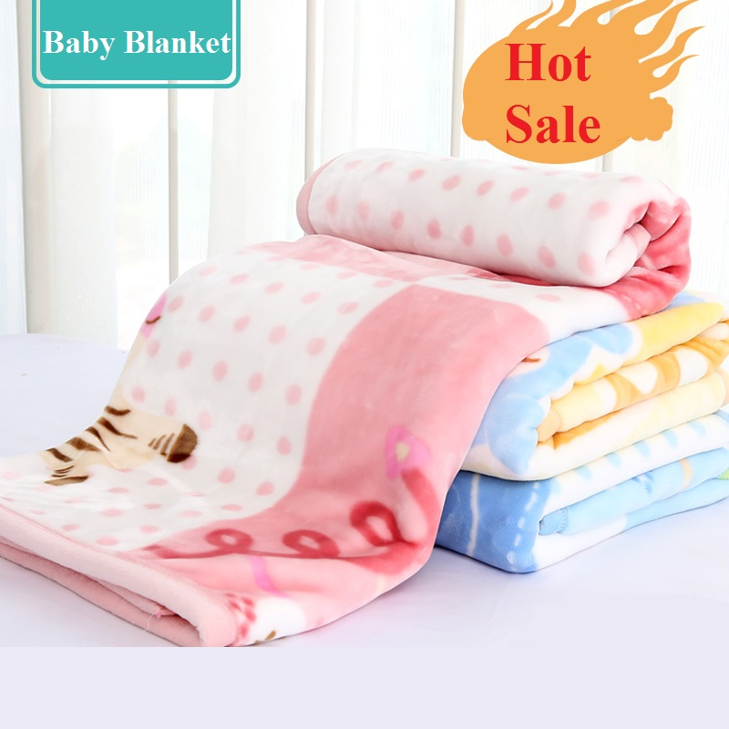 Winter Cozy Warm Flannel Baby Blankets Newborn Kids Sofa Sleep Cover Cartoon Baby Bedding Quilt Thickened Double Layer Blanket