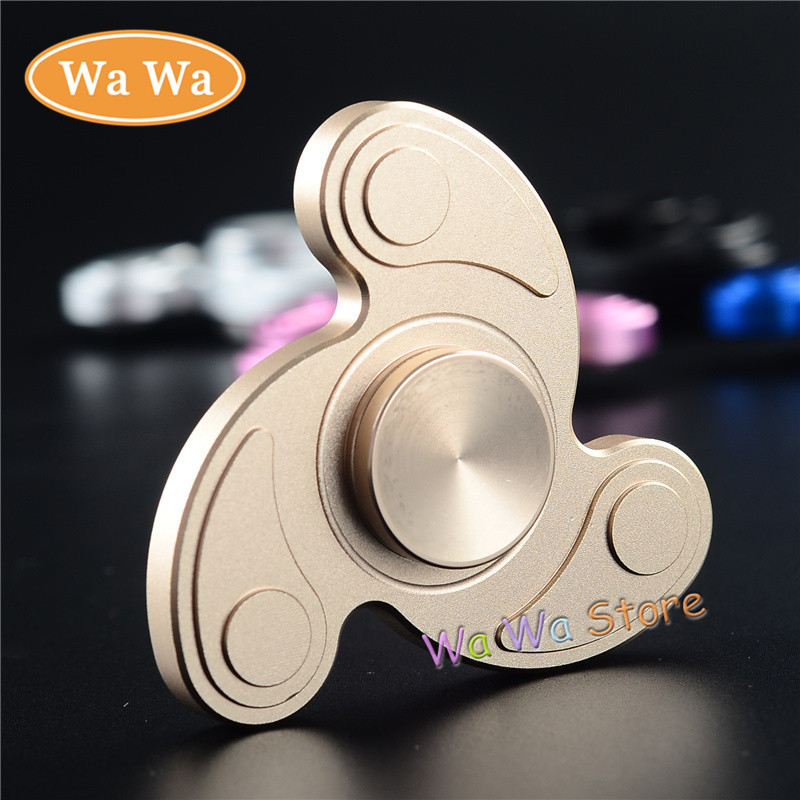 Fidget Tri Spinner Toys Sensory Fidgets Autism ADHD Hand Spinner Anti Stress Funny gifts Aluminum Rotation