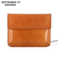 Mini change purse Women Credit Coin Purses Men Small Wallet Top layer leather Vintage Money Bag Card Holder Retro Cowhide wallet