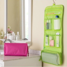 3 Colors Portable convenient Organizer Bag Foldable Travel Cosmetic Storage Bags Toiletry Wash On Wall Bags