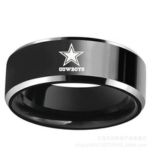 QIYIGE New Design Dallas Cowboys Team Ring Titanium Steel Unisex Jewelry Sport Style For Rugby Fans Gifts