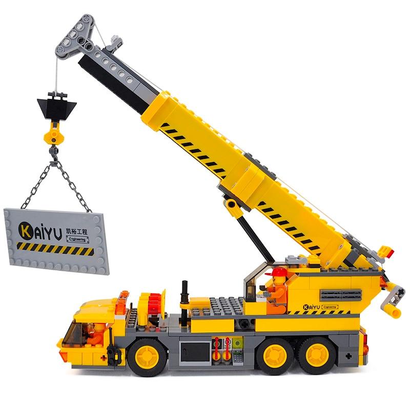 City Crane Building Blocks Sets Model 380pcs Educational ...
