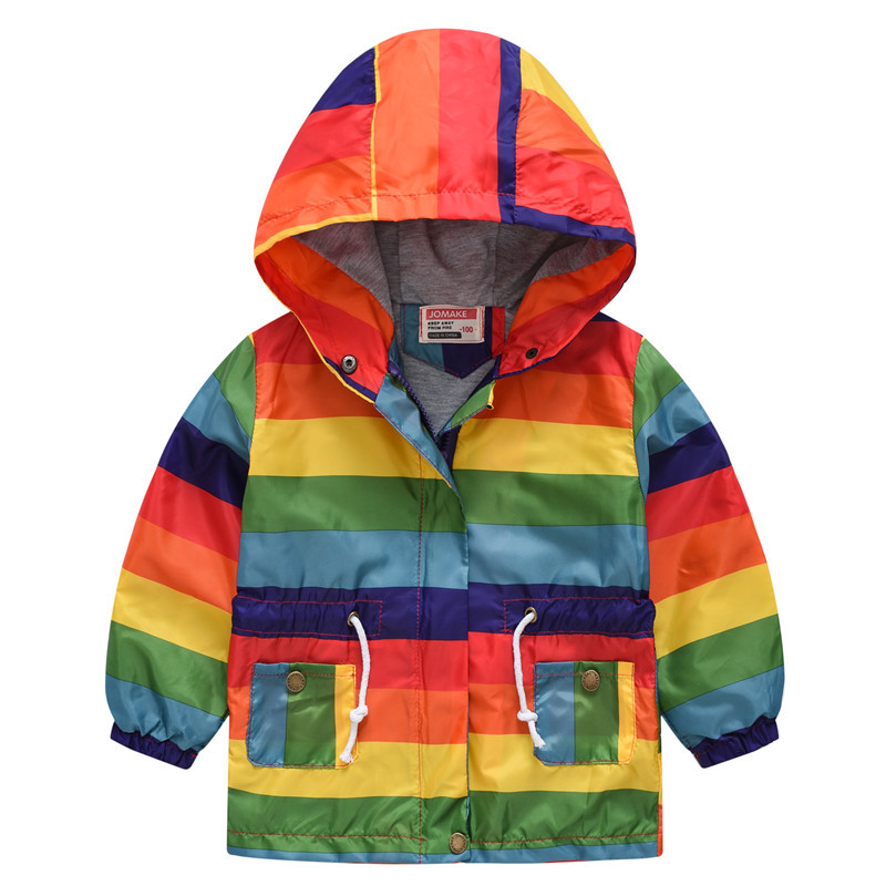 Fashion Girls Boys Jackets Printed Baby Outfits Children Outerwear Warm Waterproof Child Coat Casual Kids Windbreaker 80 130cm in Jackets Coats from Mother Kids
