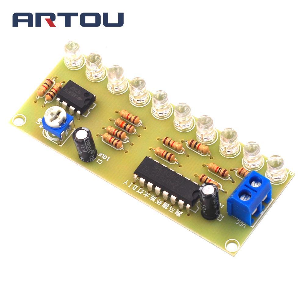 NE555 Led Horse Racing Circulating Water Lamp Pcb Circuit Board Electronic DIY Production Module Kit Parts