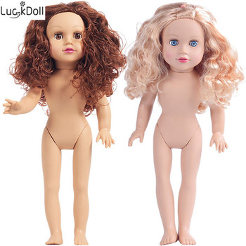Luckdoll ZWSISU new blonde/brunette 45cm  doll reality baby toy birthday present for  as  dolls.