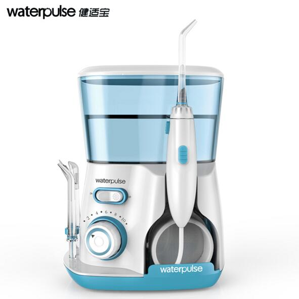 Waterpulse Dental Water Flosser Oral Irrigator Waterpick Dental Floss Water Irrigation Jet Dental Tooth Floss waterpulse rechargeable 3 pressure settings water flosser oral irrigator dental water flosser waterpick 4pcs jet tip 240ml tank