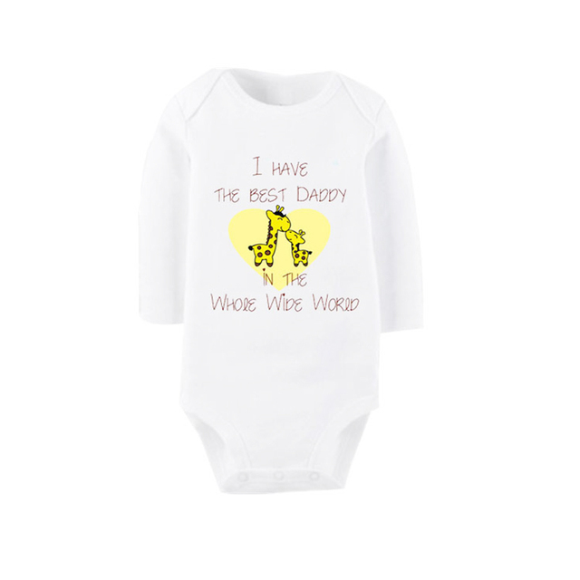 ebd8449ed Culbutomind I Have The Best Daddy White Long Sleeve Crawl Costume ...