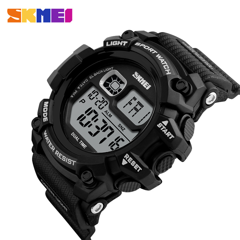 New SKMEI Brand 2018 Men Led Digital Watches Outdoor Sports Watch 50M Water Shock Resist Mens Military Wristwatches Clock