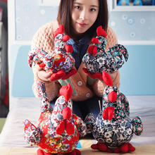 22cm Cock Plush Toys Soft Rooster Plush&Stuffed Animal Cock Doll Toys for Children Mascot Chinese Zodiac Chicken Kids Doll Gift