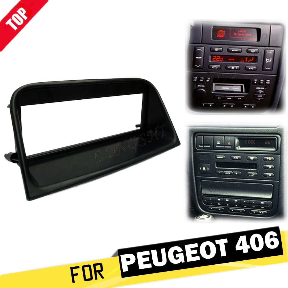 LONGSHI 1 Din радио фасция для Peugeot 406 Стерео панель Dash CD Facia аудио адаптер для установки DVD лицевая рамка пластина крепление 1din
