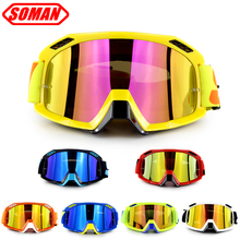 New Arrival 100% Original Soman Brand Motocross Glasses ATV Casque Motorcycle Goggles Racing Moto Bike Sunglasses SM15