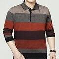 Новинка стиль высокое качество свободного покроя мужской отложным воротником свитера флис утолщаются полный рукав slim-глядя теплые мужчины пуловеры
