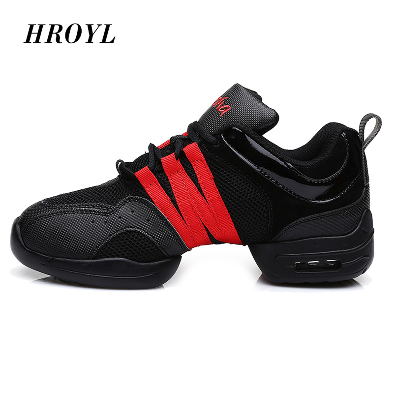 Women Soft Outsole Breath Girls Practice Shoes Modern Jazz Dance Shoes Sneakers